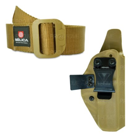 Kit Coldre Interno Kydex Slim008 Magnum + Cinto BDU Bélica