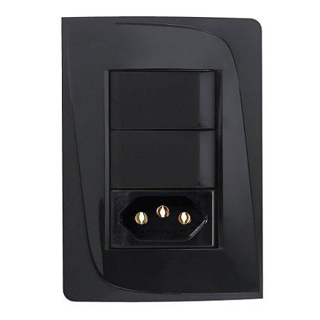 Kit Espelho Completo + Tomada 10A + Interruptor 10A 2x Pezzi
