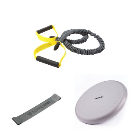 Kit Extensor de Resistência + Mini Band + Disco de Equilíbrio