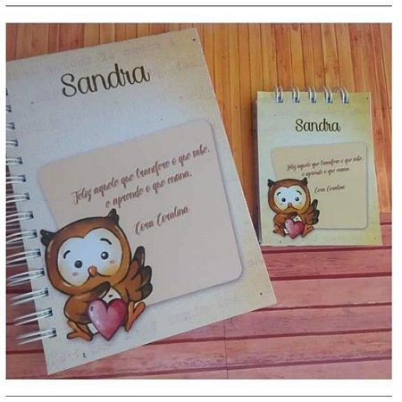 Caderno e bloquinho de anotações