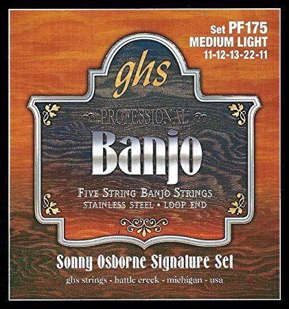 Cordas para Banjo GHS Sonny Osborne (banjo 5 cordas, country, americano)