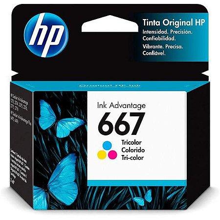 Cartucho de Tinta HP667 Color Advant 3YM78AL - 7171