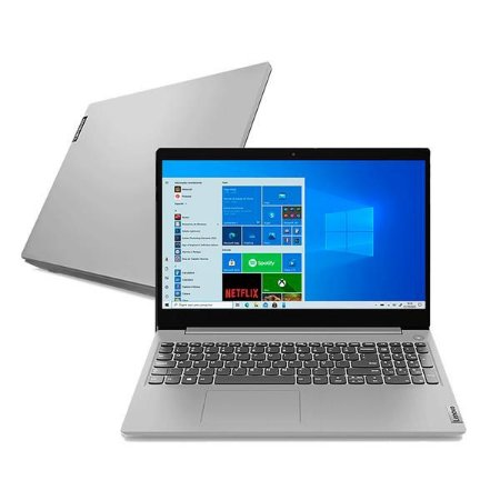 "Note Lenovo IdeaPad 3i i3-10110U 4GB 1TB Win 10 15.6"" 82BS0002BR"