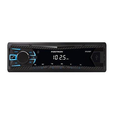 Auto Positron SP2230BT,USB,Bluetooth,Viva Voz,Relógio