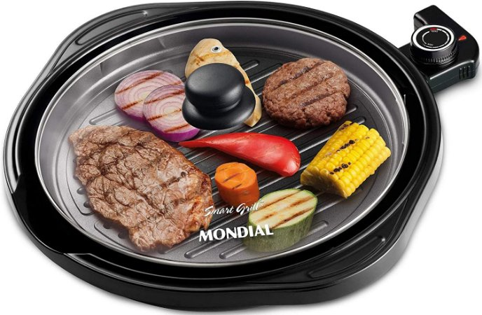 Grill 2 em 1 Mondial Redondo Smart G04 - 4961