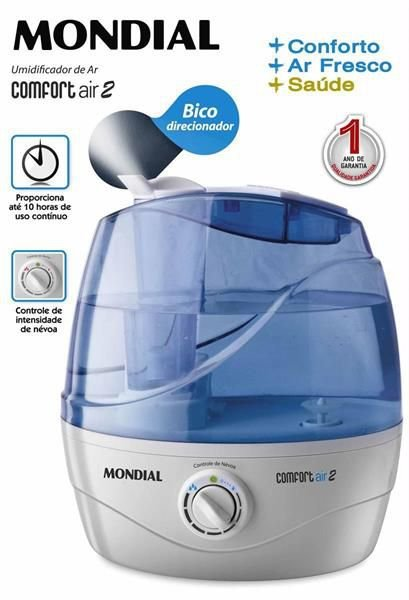 Umidificador Ar Mondial Ultrassônico Confort Air 2 NUA02