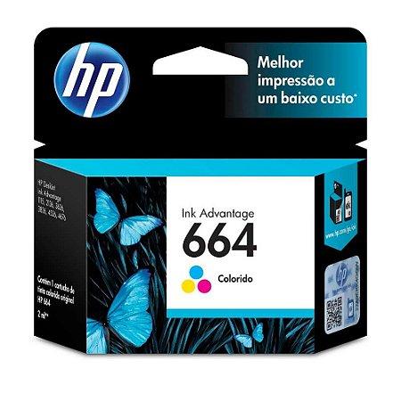 Cartucho HP Color N.664 V6V28B