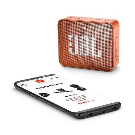 Caixa de Som JBL Go 2 Bluetooth Laranja