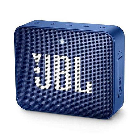 Caixa de Som Jbl Go 2 Azul à Prova D'água