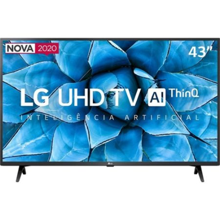 "Smart TV LED 43"" LG 43UN7300 UHD 4K Bluetooth HDR 10 Thing Ai Google Assistente - Alexa Iot Função Gamer - 6475"