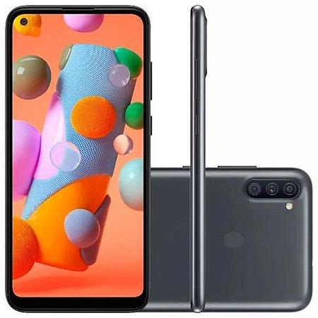 "Smartphone Samsung Galaxy A11 Dual Chip Android 10 Tela 6.4"" Octa-Core 64GB 4G Câmera Tripla 13MP+5MP+2MP - verm - 6479"