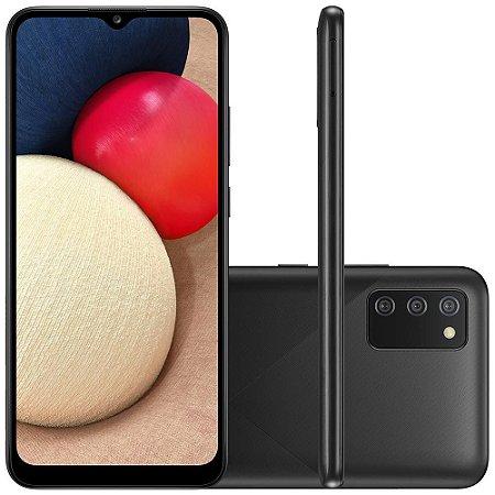 "Smartphone Samsung Galaxy A02s Cam Trip 6.5"" 32GB Preto"