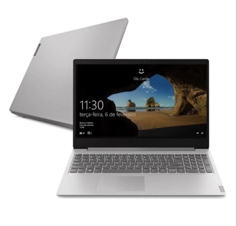 "Notebook Lenovo Ultrafino ideapad S145-15IIL, i3-1005G1, 4GB, 1TB, Windows 10, 15.6"", 82DJ0002BR   Prata - 7105"