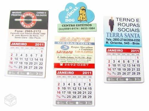 100 mini calendário com imã