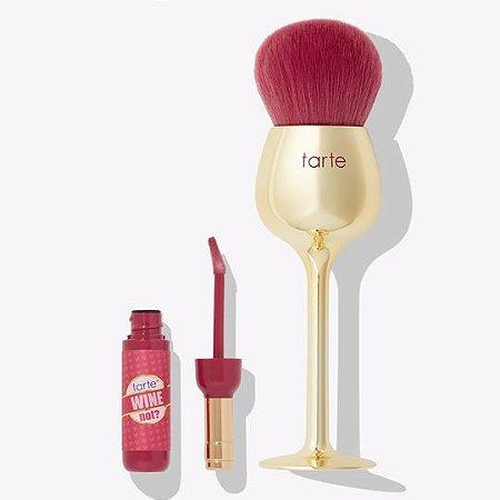 tarte wine not lip gloss & brush set