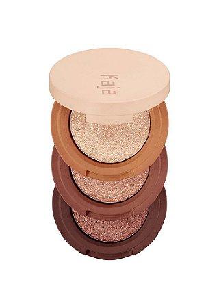 KAJA Beauty Bento Bouncy Shimmer Eyeshadow Trio 03 Toasted Caramel