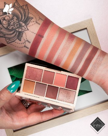 i heart revolution rose gold mini chocolate paleta de sombras