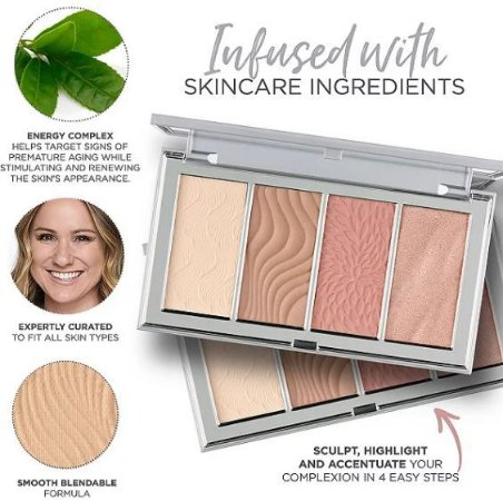 PÜR  4-in-1 Skin-Perfecting Powders Face Palette In Fair/Light