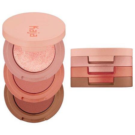 KAJA Beauty Bento Bouncy Shimmer Eyeshadow Trio 08 Chocolate Dahlia