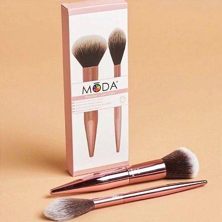 MŌDA® Limited Edition 2pc Powder & Soft Glow Kit pincéis