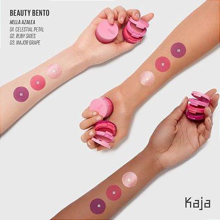 KAJA Beauty Bento Bouncy Shimmer Eyeshadow Trio 05 Hella Azalea