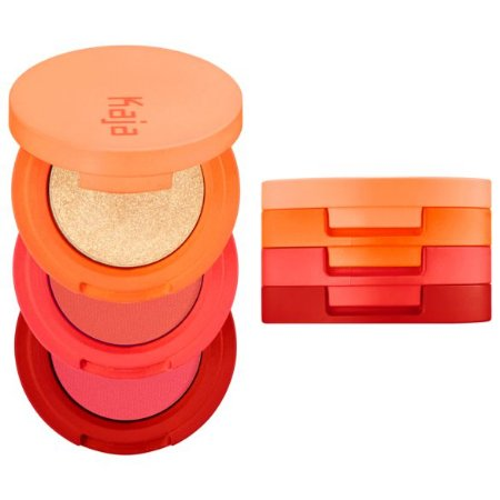 KAJA Beauty Bento Bouncy Shimmer Eyeshadow Trio 06 Poppy Champagne