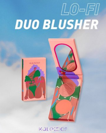KALEIDOS LO-FI DUO BLUSHER PEACH