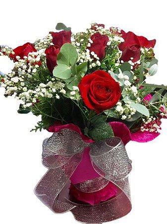Buque Especial de Rosas Vermelhas