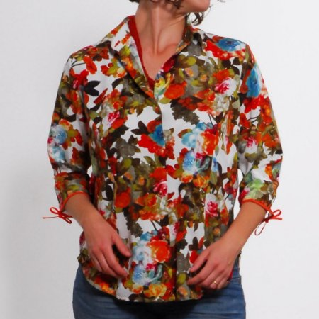 Camisa Plus Size de Viscose Florida