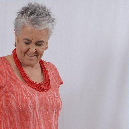 Vestido Plus Size de Tencel 'Acqua Print' Pitanga