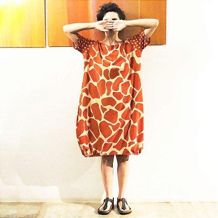 Vestido Riviera Girafa Laranja