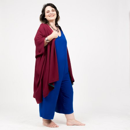 Vestido Kimono Vinho