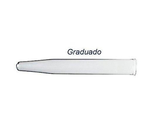 TUBO PARA CENTRIFUGA DE VIDRO GRADUADO COM ORLA 12ML