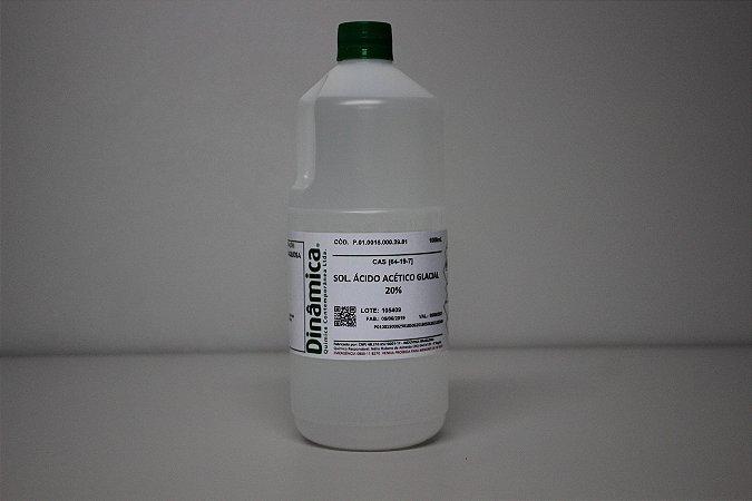 SOLUCAO ACIDO ACETICO GLACIAL 20% 1L *PF/SSP