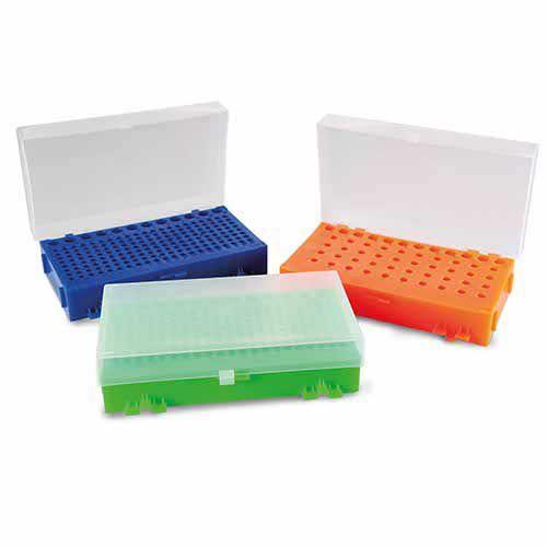 RACK DUPLA FACE PARA MICROTUBOS DE PCR 0,2 A 1,5ML CORES SORTIDAS