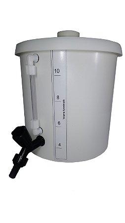 BARRILETE DE PLASTICO (PP) 10L COM TORNEIRA