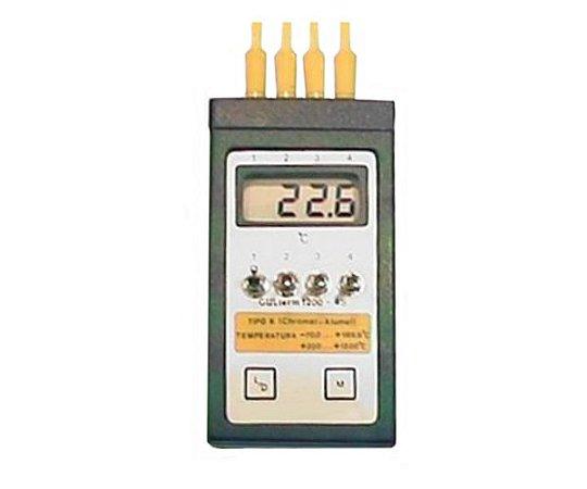 TERMOMETRO DIGITAL -70+1200ºC AUTOMATICO PARA ATE 4 SONDAS TIPO K 1MT