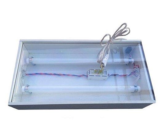 BANDEJA TRANSILUMINADA COM 2 LAMPADAS 220V