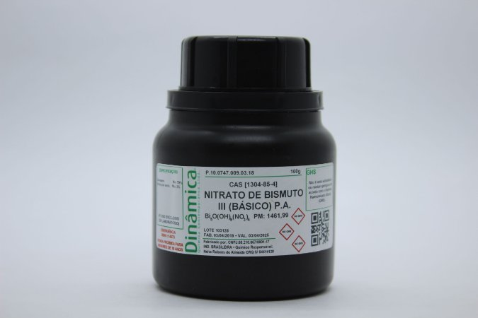 NITRATO DE BISMUTO III BASICO PA 100G