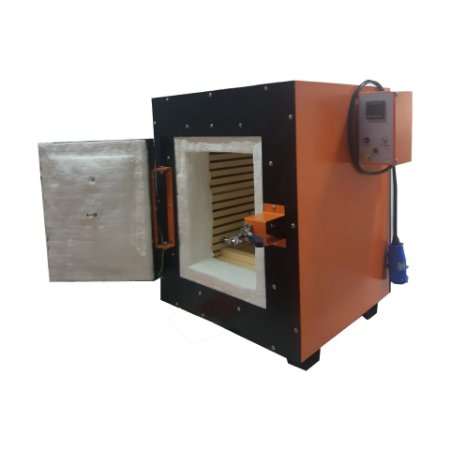 FORNO MUFLA 40L TEMPERATURA 1200°C DIMENSOES INTERNAS 300X400X300MM TRIFASICO 380V INNVTC