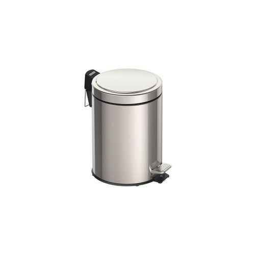 Lixeira Inox com Pedal  e Balde interno Tramontina 5L - 94538105