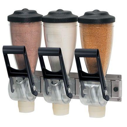 Dosadores Dispenser TRIPLO de Sólidos Profíssional 1 Litro - Server