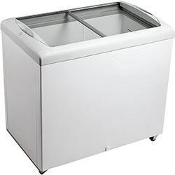 Freezer Horizontal Metalfrio HF30S 2 tampas 303 litros Branco tampa de vidro para sorvetes e congelados