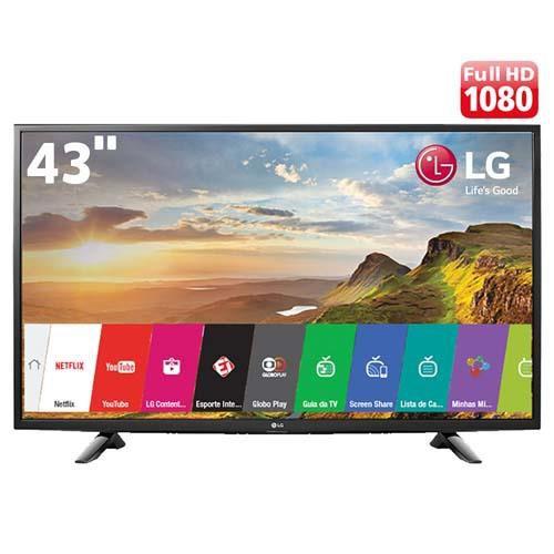 "Smart TV LED 43"" LG 43LJ5500 Full HD com Conversor Digital Integrado Wi-Fi 2 HDMI 1 USB"
