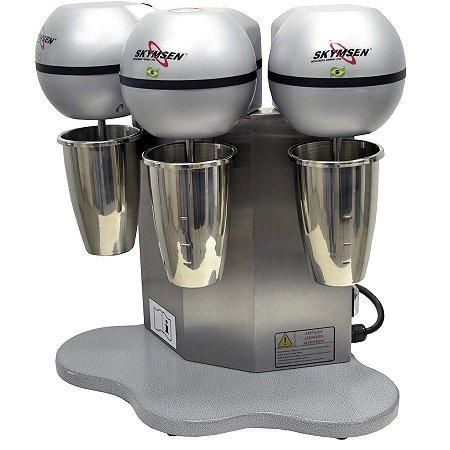 Batedor de Milk Shake com Copo em Inox e 3 Hastes Skymsen BMS-3-N - 220V