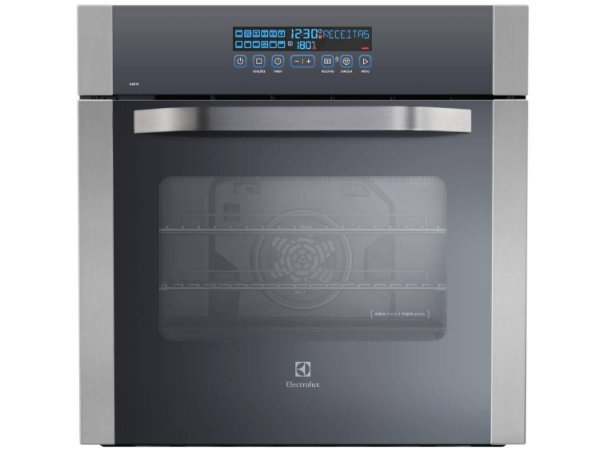 Forno de Embutir Elétrico Electrolux OE8TX  80L Grill Timer Painel Blue Touch Inox 220V