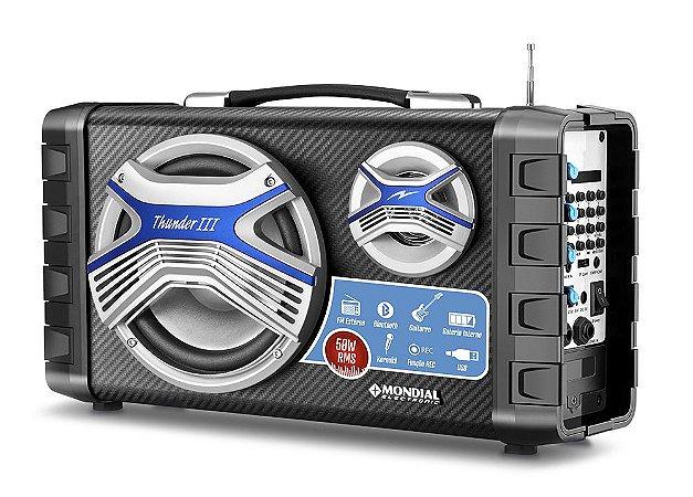 Caixa Amplificadora Multi Connect Mondial Mco-03 Preto 60W