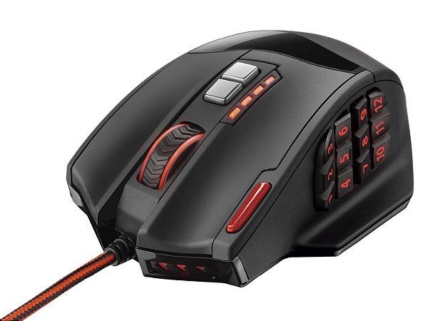 Mouse Multilaser Gamer Laser 18 Botões 4000Dpi USB - MO206