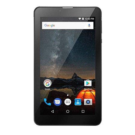Tablet Multilaser M7S Plus Quad Core/Câmera/Wi-Fi/1 GB de RAM/Tela 7 pol./Memória 8GB Preto - NB273
