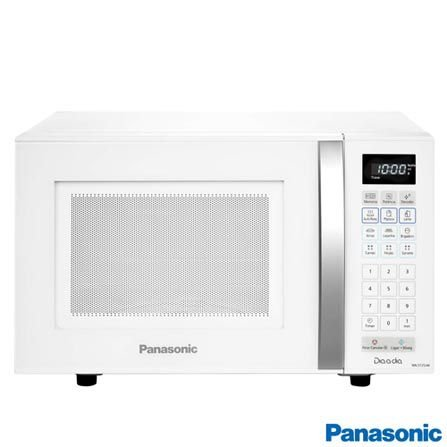 Micro-ondas de Mesa Panasonic com Capacidade de 21 Litros Branco - NN-ST25JWRU